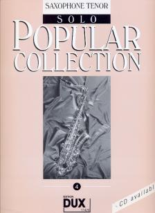 POPULAR COLLECTION 4 FOR SAXOPHONE TENOR SOLO