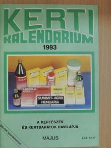 Dr. Ferenczy Tibor - Kerti Kalendárium 1993. május [antikvár]
