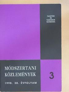 Bartha Ferenc - Módszertani közlemények 1998/3. [antikvár]