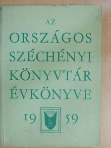 Barta Gábor - Az Országos Széchényi Könyvtár Évkönyve 1959 [antikvár]