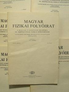Bérces György - Magyar Fizikai Folyóirat XXXVI. kötet 1-6. füzet [antikvár]