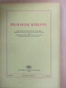 Gál István - Filológiai Közlöny 1964. január-június [antikvár]