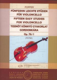 POPPER - TIZENÖT KÖNNYŰ GYAKORLAT GORDONKÁRA OP.76/I (PEJTSIK)