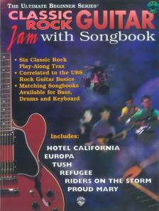CLASSIC ROCK GUITAR JAM WITH SONGBOOK - SIX CLASSIC ROCK PLAY-ALONG TRAX