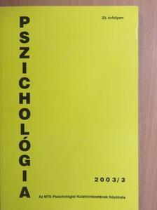 Fonyódi Péter - Pszichológia 2003/3. [antikvár]