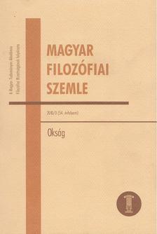 Schmal Dániel (szerk.) - Magyar Filozófiai Szemle 2010/3. [antikvár]