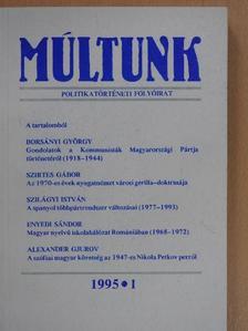 Alexander Gjurov - Múltunk 1995/1. [antikvár]