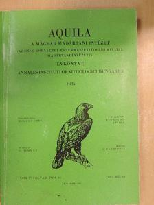 Czájlik Péter - Aquila - A Magyar Madártani Intézet évkönyve 1985 [antikvár]