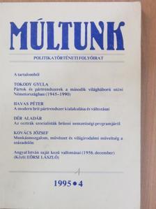 Bolvári-Takács Gábor - Múltunk 1995/4. [antikvár]