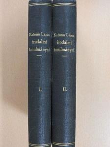 Császár Elemér - Katona Lajos irodalmi tanulmányai I-II./Katona Lajos élete [antikvár]
