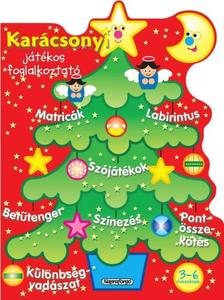 Napraforgó Könyvkiadó - Karácsonyi játékos foglalkoztató - Piros