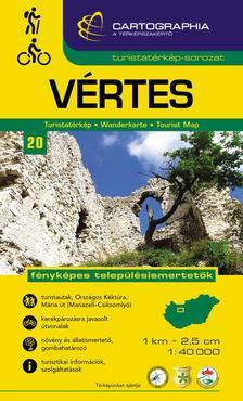 """Cartographia Kiadó - Vértes turistatérkép 1:40000 cart. """"sc"""""""