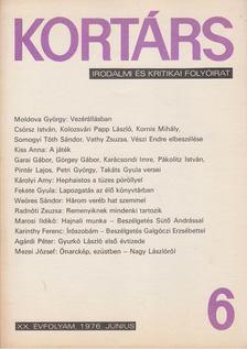 Bécsy Tamás - Kortárs 1976. XX. évf. 6. szám [antikvár]