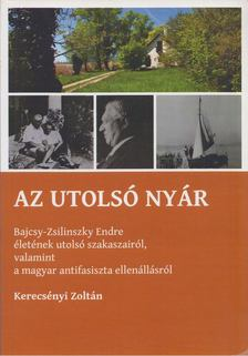 Kerecsényi Zoltán - Az utolsó nyár [antikvár]