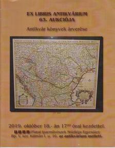 Tóth Éva - Ex-libris Antikvárium 63. Aukciója [antikvár]