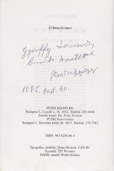 Beke György - Magyar áfium (dedikált) [antikvár]