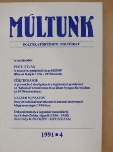 Szirtes Gábor - Múltunk 1991/4.  [antikvár]