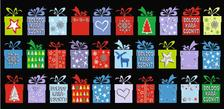 6685 - Képeslap borítékos LA/4, aranyozott, ezüstözött, zsebes, karácsonyi ZSAK05