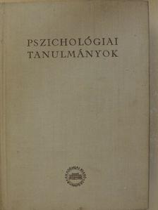 Dr. Kiss Tihamér - Pszichológiai tanulmányok [antikvár]