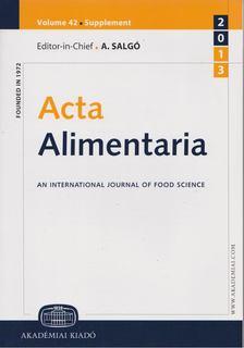A. Salgó - Acta Alimentaria [antikvár]