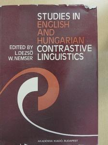 Diósy-Stephanides, Éva - Studies in English and Hungarian Contrastive Linguistics [antikvár]