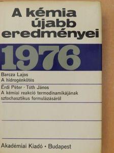 Barcza Lajos - A kémia újabb eredményei 31. [antikvár]