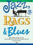 MIER, MARTHA - JAZZ, RAGS & BLUES - BOOK 3 - 10 ORIGINAL PIECES FOR THE INTERMEDIET TO LATE INT. PIANIST +CD