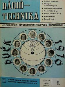 Lóska Péter - Rádiótechnika 1976. (nem teljes évfolyam) [antikvár]