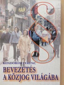 Kondorosi Ferenc - Bevezetés a közjog világába [antikvár]