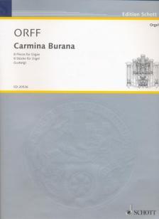 ORFF - CARMINA BURANA. 8 PIECES FOR ORGAN (LUDWIG)