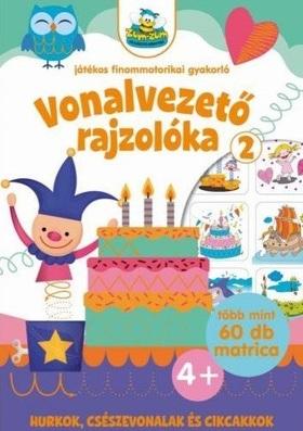 Szalay Könyvkiadó - Vonalvezető rajzolóka 2. Játékos finommotorikai gyakorló nagy matricákkal