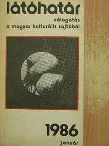 Ágh István - Látóhatár 1986. január [antikvár]