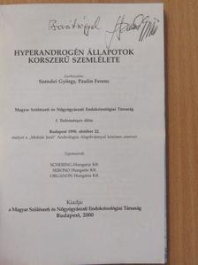 Dr. Bruno Lunenfeld - Hyperandrogén állapotok korszerű szemlélete (dedikált példány) [antikvár]
