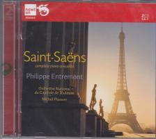 SAINT -SAENS - COMPLETE PIANO CONCERTOS 2CD PHILIPPE ENTREMONT, MICHEL PLASSON