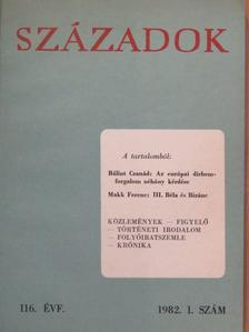 Bálint Csanád - Századok 1982/1. [antikvár]
