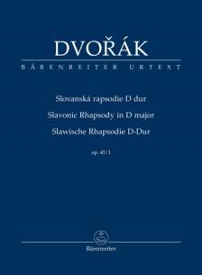 DVORAK - SLAWISCHE RHAPSODIE D-DUR OP.45/1, STUDIENPARTITUR URTEXT