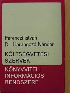 Dr. Harangozó Nándor - Költségvetési szervek könyvviteli információs rendszere [antikvár]