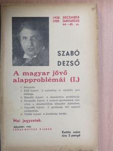 Szabó Dezső - A magyar jövő alapproblémái (I.) [antikvár]