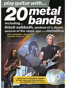 20 METAL BANDS. PLAY GUITAR WITH... + CD