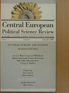 Dömény János - Central European Political Science Review September 2000. [antikvár]