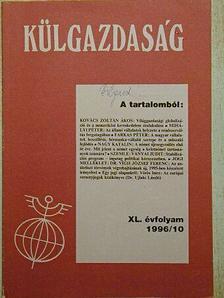 Dr. Ujlaki László - Külgazdaság 1996/10 [antikvár]