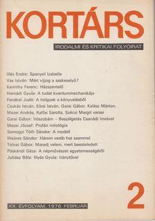 Bécsy Tamás - Kortárs 1976. XX. évf. 2. szám [antikvár]