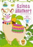 Szalay Könyvkiadó - Színes állatkert - színes vonalkás kifestő nagy matricákkal
