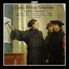 TELEMANN - LUTHER CANTATAS CD GOTTHOLD SCHWARZ