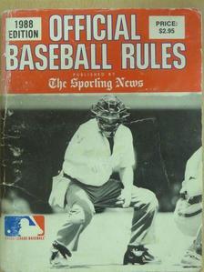A. Bartlett Glamatti - Official baseball rules [antikvár]