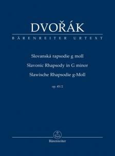 DVORAK - SLAWISCHE RHAPSODIE g-MOLL OP.45/2, STUDIENPARTITUR URTEXT