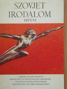 Abel Sztarcev - Szovjet Irodalom 1977/11. [antikvár]
