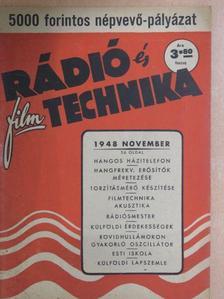 Galánfy Ede - Rádió és filmtechnika 1948. november [antikvár]
