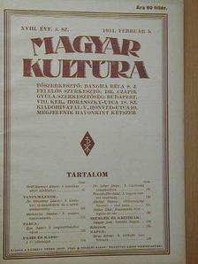 Dr. Léber János - Magyar Kultúra 1931. február 5. [antikvár]
