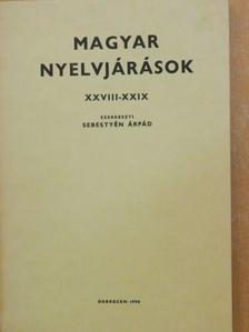 Bachát László - Magyar nyelvjárások XXVIII-XXIX. [antikvár]